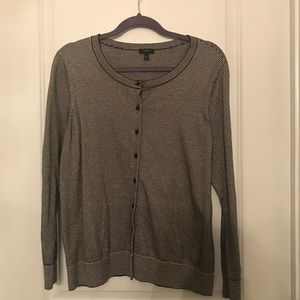 Talbots Navy and Champagne Cardigan